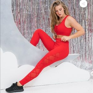 BuffBunny Red Cross My Heart Leggings